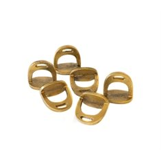 Stirrup napkin ring 6 set antiq gold
