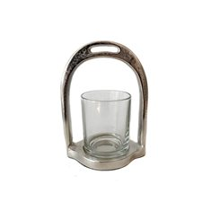 Candleholder Stirrup S raw nickle