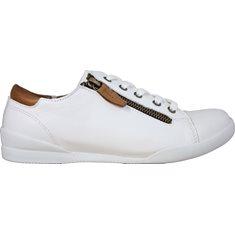 Sneaker Charlotte  White/brandy