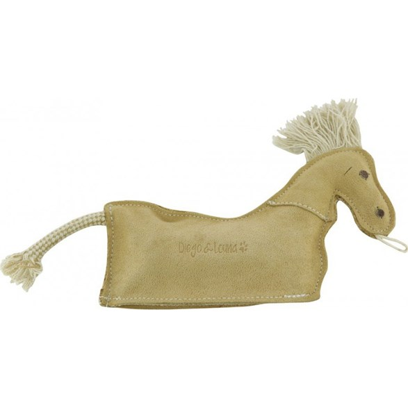 Hundleksak Leather horse 26cm