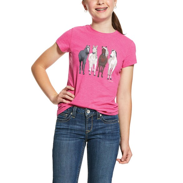 T-shirt Girls 360 SS  Beet pink heather