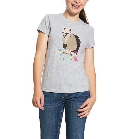 T-shirt Girls Bohemian SS  Grey heather