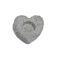 Ljuslykta Grå hjärta 8