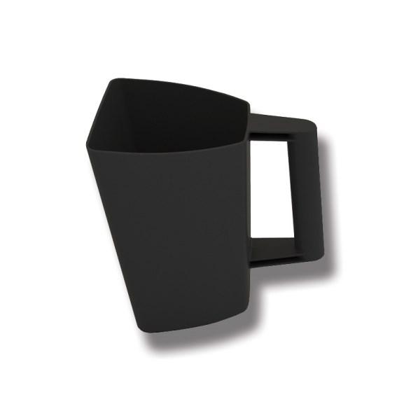 Foderskopa plast 2 l svart