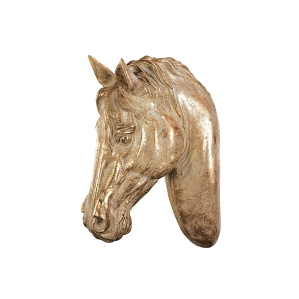 Hästhuvud Creme/guld 32x17x44