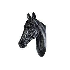 Hästhuvud Vägg svart 35x20x50