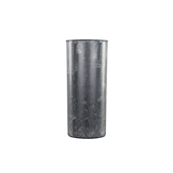 Kruka/cylinder grå 13x30cm