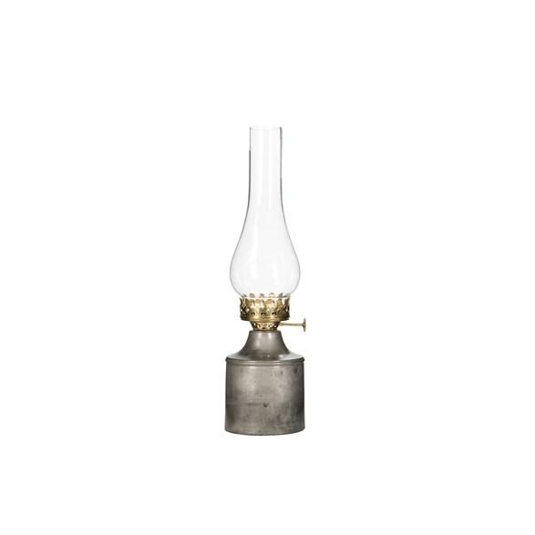Lampa/värmeljus Iris Cloudy/rust 9x35cm