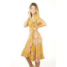 Klänning Liv  Sun yellow/rosebud