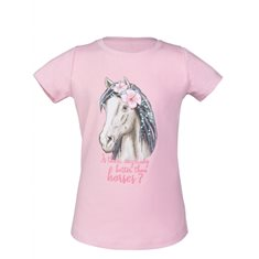 T-shirt Soft pink Horse  rose