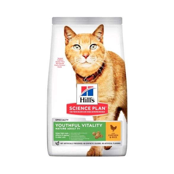Hills Feline Youthful Vitality Chicken with rice 7kg