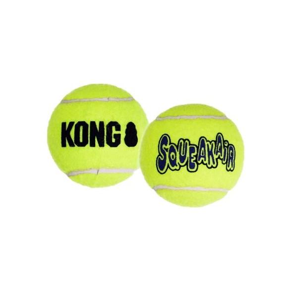 Hundleksak Kong Tennisboll squeaker 2-p L