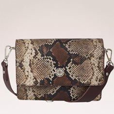 Väska box snake brun