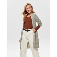 Cardigan Bernice knit  Lt grey melange