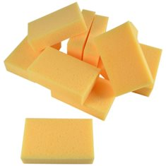 Tvättsvamp de Luxe gul 18*11*5cm