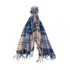 Scarf Tartan Boucle Blue trench