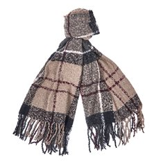 Scarf  Boucle w.dress tartan