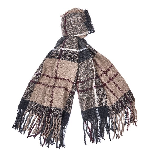 Scarf  Boucle w.dress tartan
