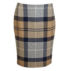 Kjol Nebit pencil Oatmeal tartan