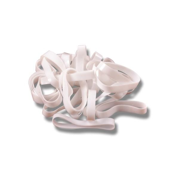 Flätningsband silikon vit i hink 1800st