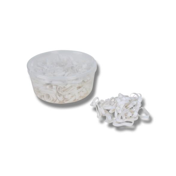 Flätningsband silikon i  burk vit