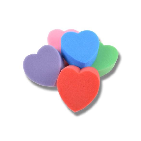 Svamp hjärta mix färger