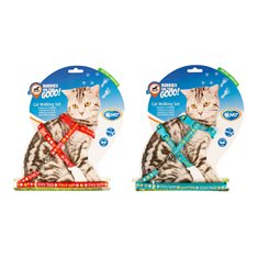 Kattsele+koppel Cool Cats 20-35cm/10mm