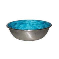 Hundmatskål RF Blå mönstrad