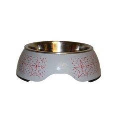 Hundmatskål RF grå mönstrad