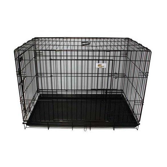 Hundtransportbur svart metall olika storlekar