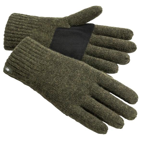 Handske Wool Mossgreen mel