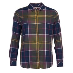 Blus Moorland Olive check