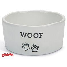 Keramikskål Vit Woof Beeztees 15cm