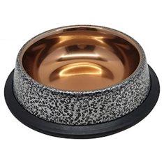 Matskål rostfri Silver/guld 0,7 lit