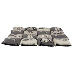 Hundbädd Lapptäcke beige/grå