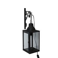 Vägglykta smide H50 L38 svart
