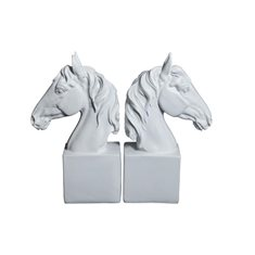 Bokstöd häst par H22 vit