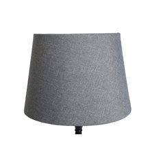 Lampskärm Grovlinne grå