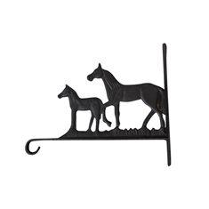 Väggkrok hästar H24 L28