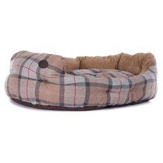 Hundbädd Luxery Taupe/pink tart