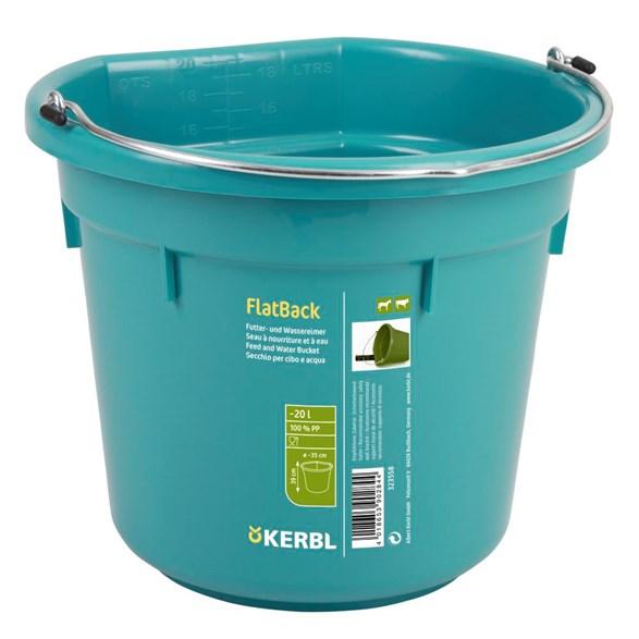 Hink m flat baksida 20 l Aqua