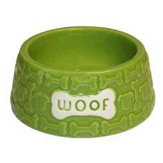Keramikskål Woof grön
