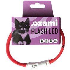 Blinkhalsband Flash led röd