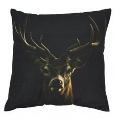 Kudde Canvas Black deer 50x50