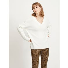 Top Iril V-neck  White alyssum