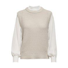Tröja Saga life  Pumic stone white woven