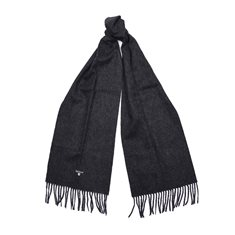 Scarf Plain Lambswool Charcoal/ Grey