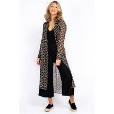 Skjorta lång Inca  Black/sandstone