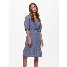 Klänning Karin StripeS Medium blue denim