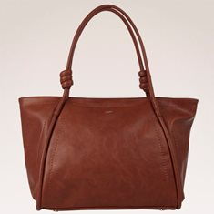 Väska Kasse enfärgad knut brun